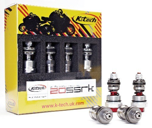K-Tech Suspension 20SSRK Fork Piston Kit - #20SSRK-KYB-4/HL  YZF 600 R6 06-15/With Compression Adjusters/Race Track Use
